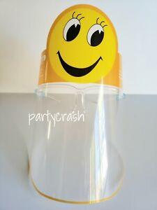 Kids Boys Girls Child Face Shield Mask Plastic Clear Anti Fog splash Protection