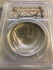 2014 $1 Silver Baseball Hall of Fame HOF Rollie Fingers PCGS MS70