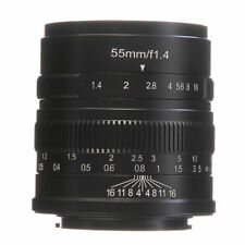 7artisans 55mm /f1.4 Manual Focus  MF Lens For Canon EOS M M6 M10 M100 M50 M5 M3