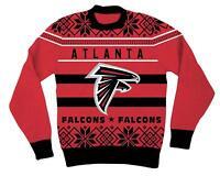 NFL Atlanta Falcons Logo Adult Red Football Ugly Christmas Sweater
