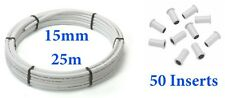 25m x 15mm barrier pipe + 50 inserts pipe pushfit Hep20 / Speedfit compatible