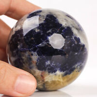 303g 60mm Natural Blue Sodalite Quartz Crystal Sphere Healing Ball Chakra Decor