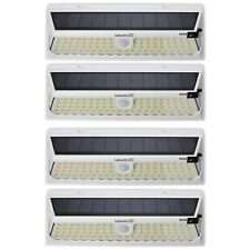 4 Pack 86 LED Solar Power Motion Sensor Wall Light Outdoor Garden Lamp White