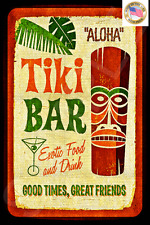 TODAY'S SPECIAL! *ALOHA TIKI BAR* MADE IN HAWAII METAL SIGN 8X12 HAPPY HOUR POOL