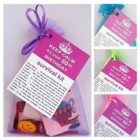 60th 65th 70th 80th BIRTHDAY PRESENT SURVIVAL KIT FUN NOVELTY GIFT PERSONALISED