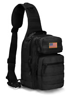Tactical Sling Military Shoulder Backpack bag Waterproof Hiking Camping Hunting
