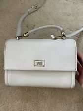 White Leather Cross Body Bag, Cavalli Class