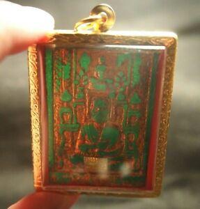 Big Size Green Jade Phra Somdej Pim Lp Toh Wat Prakaew Wangna Thai Amulet