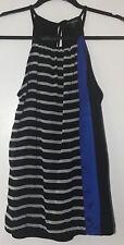 NWT EXPRESS Colorblock Stripe Cami Tank Top Black White Blue - S Small