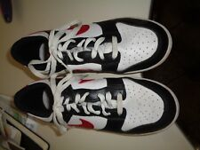 Youth Boys Nike Golf Shoes Black White Red Lace Up Rubber Cleats Hardly Worn 6Y