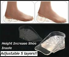 3cm Height Increase Insole Pad Wedding Shoe Heel Lifts Silicone Insert Foot Care