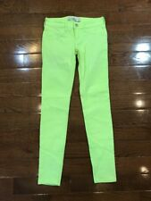 Womens Size 0 Hollister Jeans Bright Green Skinny