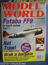 RCMW RC MODEL WORLD APRIL 2002 WEE ANNE & ME 163 PLANS FUTABA FF9 OSCAR MIZZI