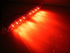 """15"""" Red Lens Hi Mount Center ID Bar 11 LED Stop Turn Tail Light Trailer Truck RV"""