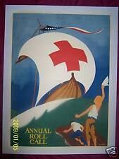 "Orig. 1918 E. Seaver's,"" ANNUAL ROLL CALL "" WW1 (LINEN LINED) World War 1 Poster"