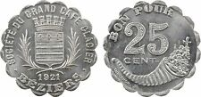 Béziers, Grand Café Glacier, 25 cts aluminium, 1921, FDC, monnaie nécessité - 2