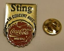 Pins coca cola music STING TOUR