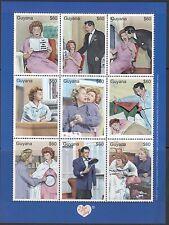 Guyana: 2000 'I Love Lucy' Sheetlet SG5900-8 Estampillada sin montar