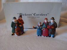 Dept. 56 Dicken's Carolers Handpainted Porcelain Figures Set of 2