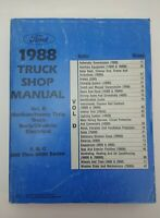 1988 FORD Truck Shop Manuel Volume D Medium/Heavy Duty 600 Thru 8000 Series