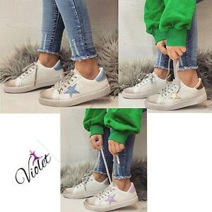 Scarpe Donna da ginnastica sneakers basse scarpe donna bianche sportive moda IT