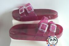 JUJU Jelly Erin Sliders Pink Slip On Beach Sandals UK Size 3 NEW TAGS