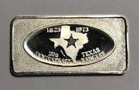 Texas Rangers 150th Anniversary Great Lakes Mint 1973 1 oz .999 Fine Silver Bar