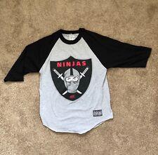 RockSmith Oakland Raiders inspired Ninjas Raglan Size Medium