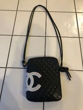 Chanel Messenger Cambon Quilted Black Leather Cross Body Bag