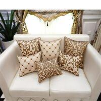 Luxury Cushion Cover Pillow Case European Embroidery Cushions Home Decor Sofa