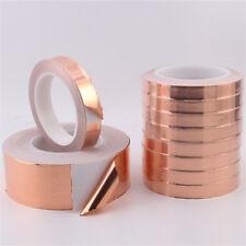 1pcs 0.06MM×10MM×20M Copper Foil Tape Conductive Self Adhesive Heat Insulation