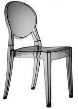 Scab Set 2 Sedie Igloo Chair in policarbonato-Trasparente Fumè