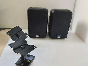 Pair JBL Control Speaker with Wall Brackets *Untested* 15x23x15cm R1