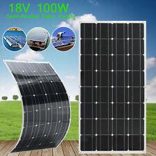 100WATT 100W 18V SOLAR PANEL SOLAR CITY-CHIP SEMI-FLEXIBLE MONOCRYSTALLINE+CABLE