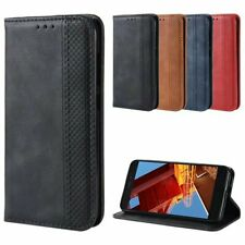 Fits Xiaomi Redmi Go Magnetic Case Flip Retro PU Leather Wallet Card Stand Cover