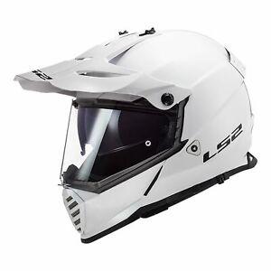 LS2 MX436 PIONEER EVO ADVENTURE MOTORCYCLE HELMET LS2MX436 WHITE SIZE MEDIUM