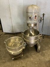 Hobart H 600 60qt Commercial Mixer Pizza Dough Bowl Dolly Hook Paddle 1 Ph 1 Hp