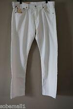Denim & Supply Ralph Lauren White Slim Fit Low Rise Jeans Size 36 X 32