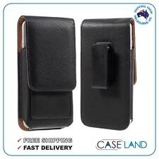 360 SWIVEL BLACK LEATHER BELT CLIP CASE POUCH COVER SAMSUNG GALAXY NOTE 5, 4, 3