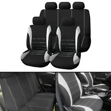 Universal Car Seat Covers Full Set Sporty Grey/Black Washable Compatible