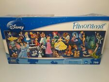 DISNEY PANORAMAS CAST OF CHARACTERS 750 PIECE PUZZLE MEGA BRANDS COMPLETE EUC