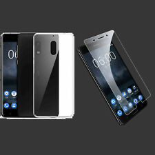 Soft Gel Case Cover & Tempered Glass Screen Protector For Nokia 1 2 3 5 6 8 7+