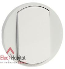 Manette simple pour va et vient bouton poussoir Legrand Céliane blanc 68001
