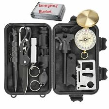 Survival Kit w Case Car Auto Outdoor Emergency Gear EDC Tools for Long Road Trip