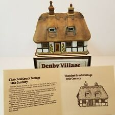 Denby Village Thatched Cruck Cottage Pottery Country House England Vintage -W