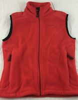 SPYDER Full Zip Fleece Vest Red Women 6 S Small