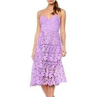 DONNA MORGAN Womens Dress Size 4 Anthropologie Lace Purple Fit Flare
