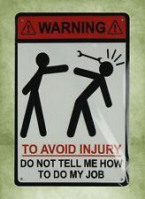 Us Seller- Warning to avoid injury tin metal sign retro home decor wall art