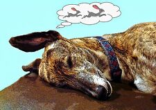 BRINDLE GREYHOUND LURCHER WHIPPET BLANK GREETING CARD or frame it - A5 size