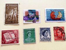 7 Austrailia Older Stamps